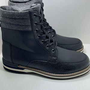 BNIB DKNY Winston Mens Combat Winter Boot Black